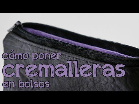 Cómo poner cremalleras en bolsos y monederos - YouTube