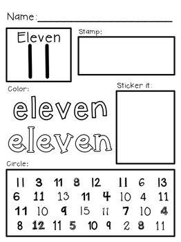 Super Simple 123 Number Worksheets 11 20 Prek K Special Ed Rti Word Family Worksheets Math Work Free Preschool Worksheets