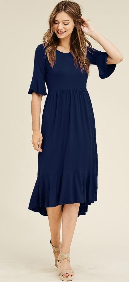 Gabby Dress (Navy) 9