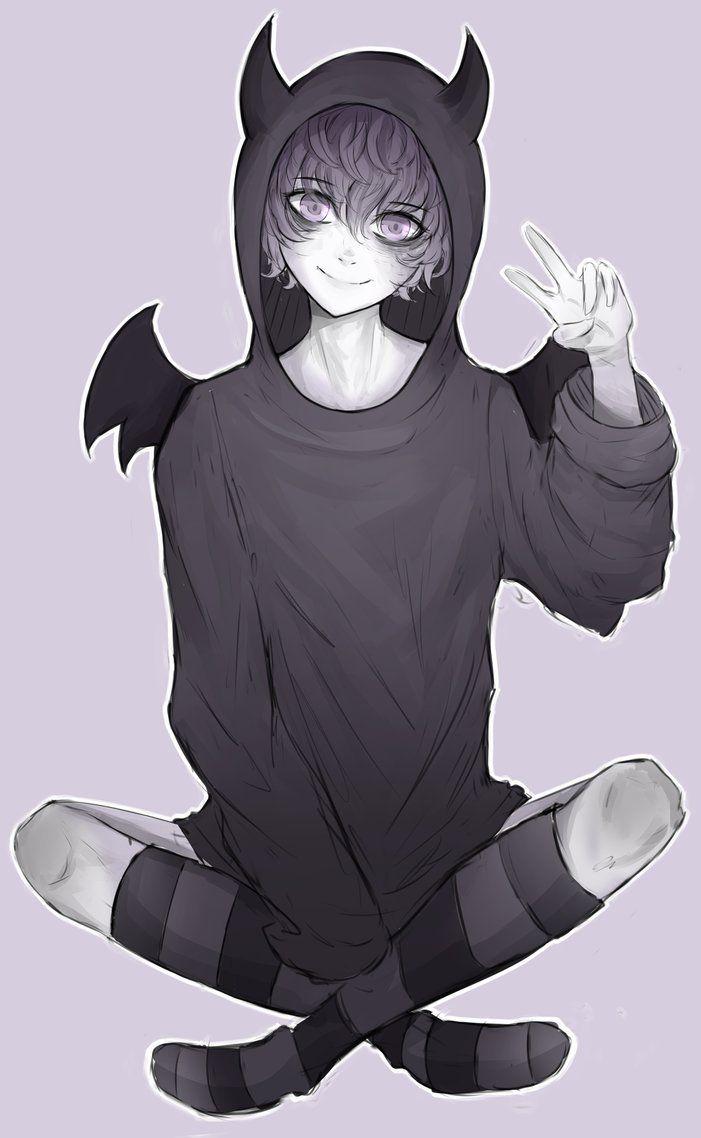 Demon Boy By Https Www Deviantart Com Dustsiege On Deviantart Anime Demon Boy Anime Drawings Boy Anime Boy