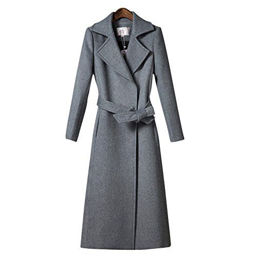 KEWLKATS Women's Stylish Thickened Silm Winter Woolen Suit Trench Coat For Women