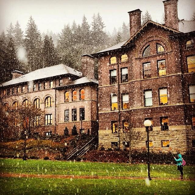 Western Washington University. The first snow of the season! Photo credit: Matthew Anderson/WWU