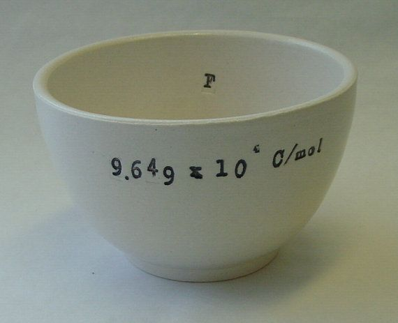 Faraday Constant Porcelain Bowl by inaeent on Etsy, $30.00