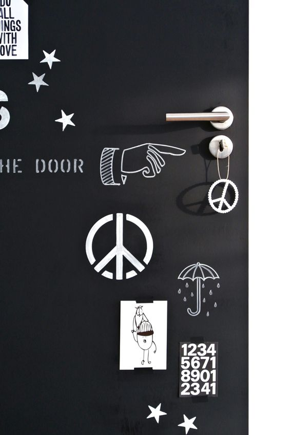 My Attic: Chalkboard Door