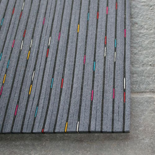 Very cool LED in-carpet lighting.. recycled wool/felt strips