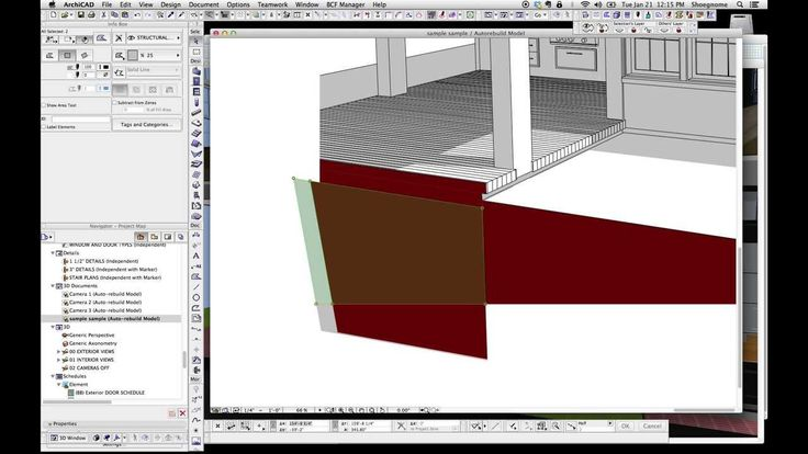ArchiCAD Tip #35: Black and White and Red 3D Documents in ArchiCAD