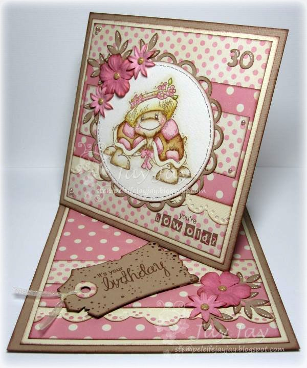 tute on how to make this twisted easel card