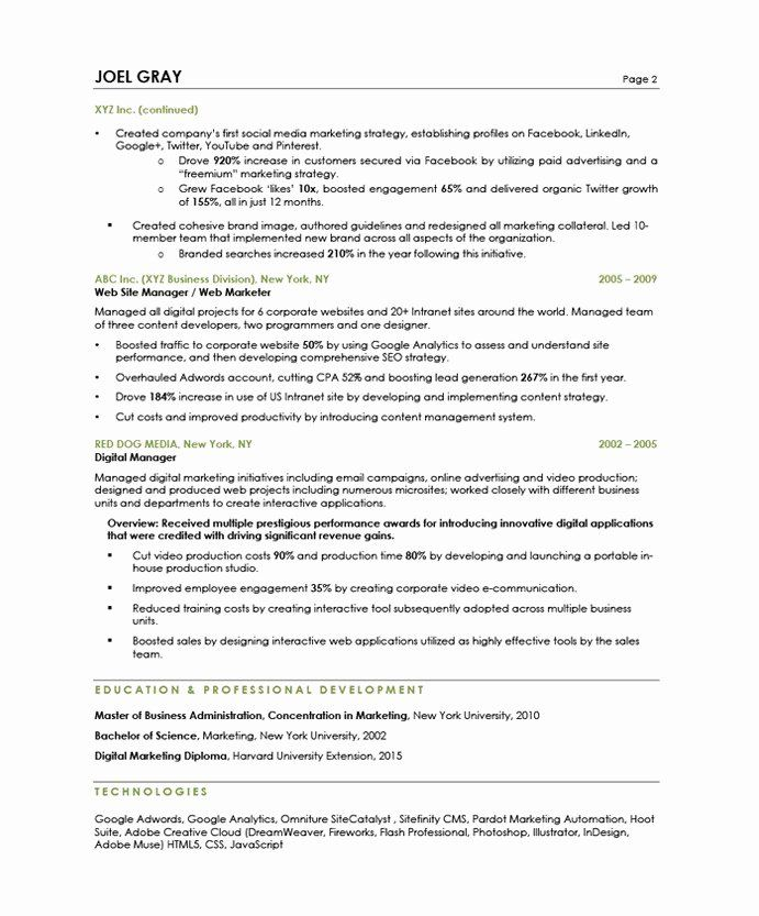 Digital Marketing Manager Resume Unique Digital Marketing Manager Free Resume Samples Marketing Resume Digital Marketing Manager Free Resume Samples