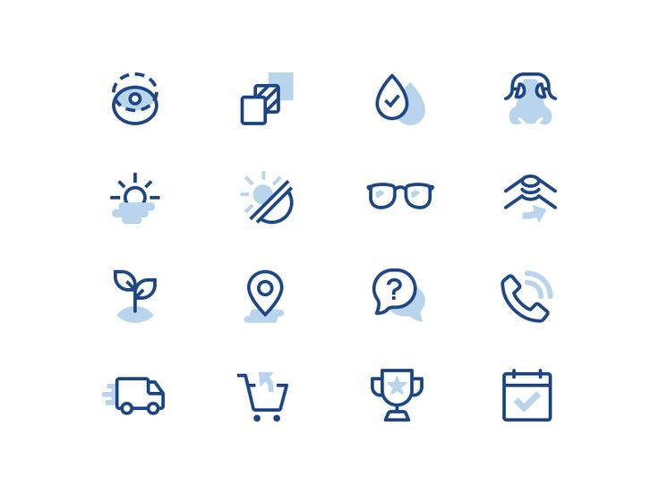 Clearly Eyewear Iconography by Zach Roszczewski #Design Popular #Dribbble #shots