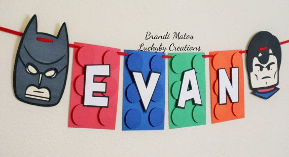 Lego Banner  Lego Theme banner birthday banner by LuckyByCreations