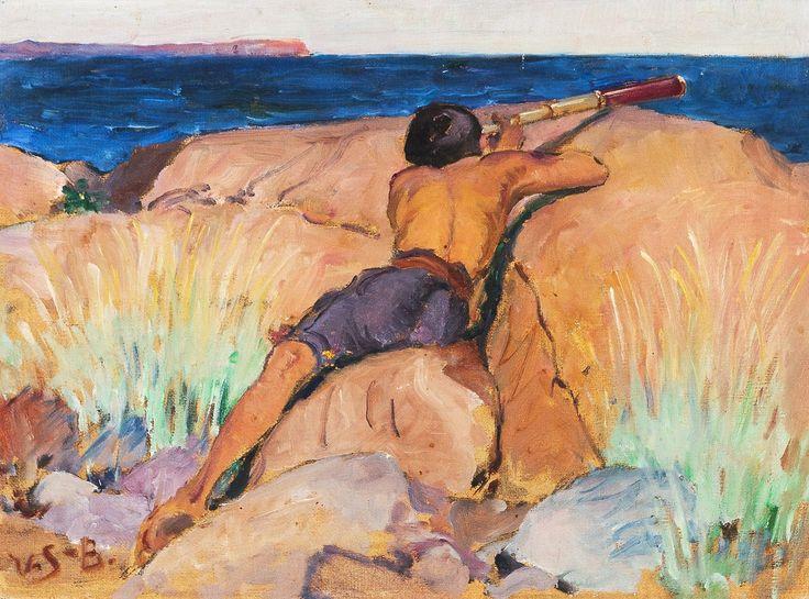 Venny Soldan-Brofeldt (Finland 1863-1945) The Voyeur
