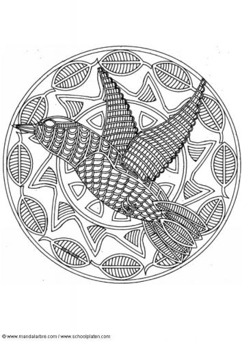 mandala coloring pages birds - photo#20