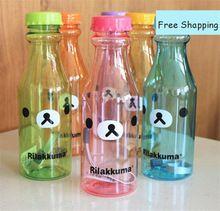 Bonito Esporte Garrafa de Água Ao Ar Livre Copo de Plástico Em Crianças Garrafa Agua Bottiglia Inchar Bebida Garrafa de Água Dos Desenhos Animados Com Você QQB035(China (Mainland))