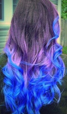 Blue And Purple Dip Dyepurple Ombre Dip Dyed Pastel Hair Hair Pinterest Irguaqc