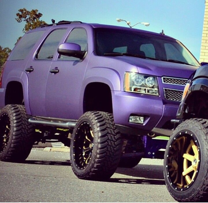 Candy Purple Tahoe With Images Girls Driving