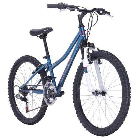 Redline Bikes Kyrie 24 Girl's Mountain Bike, 24 inch Wheels, Teal, Blue