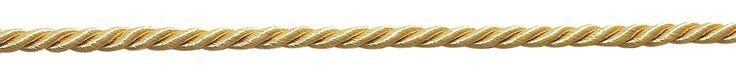 "16 Yard Value Pack of Small 3/16"" Light Gold, Basic Trim Decorative Rope, Style# 0316NL Color: Lt. GOLD - B7 (50 Feet / 15M)"