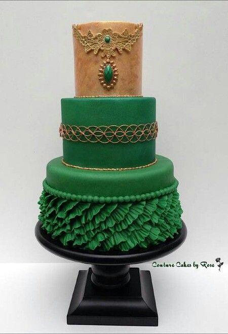 Indian Weddings Inspirations. Green Wedding Cake. Repinned by #indianweddingsmag indianweddingsmag.com