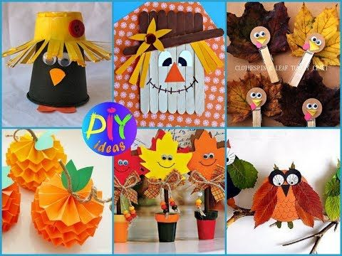 50+ DIY Fall Crafts for Kids - Easy and Fan Kids Craft Ideas - YouTube