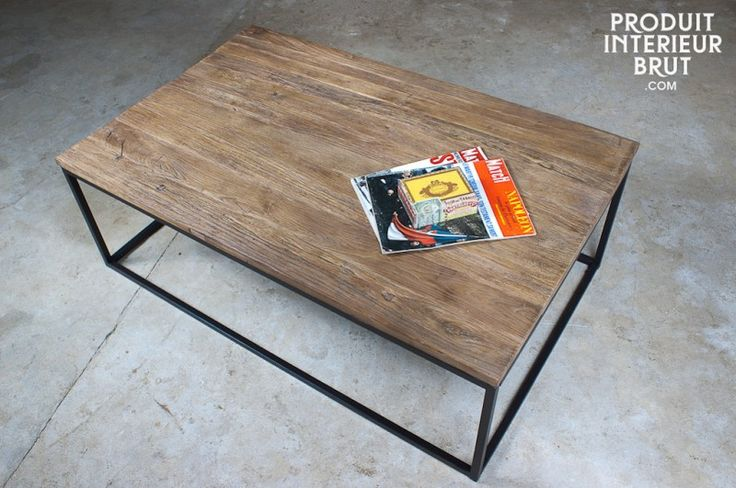 30 best images about table bois on pinterest - Table basse atelier loft ...