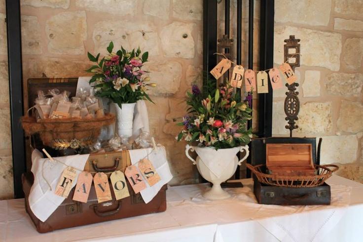 Ranch wedding rehearsal dinner favors advice table for Wedding dinner decoration ideas