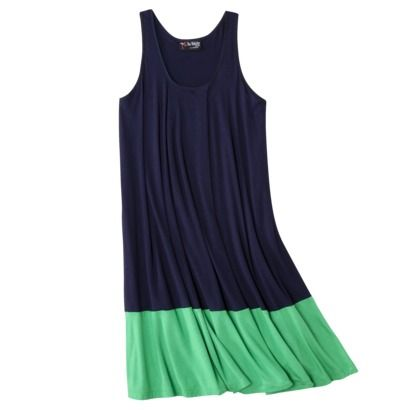 The Webster at Target® Petites Jersey Sleeveless Dress - Navy/Green: Summer Dresses, Sleeveless Dresses, Navy Green, Dresses Shoes, Target Dresses, Style Summer, Jersey Dresses, Colors Blocks, Summer Ideas