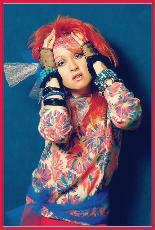 Cyndi Lauper.... i have loved her since I was little!!  Never afraid to be HERSELF! She is who I go to to remind myself to be myself and nobody else! She reminds me that's it's okay to be different!