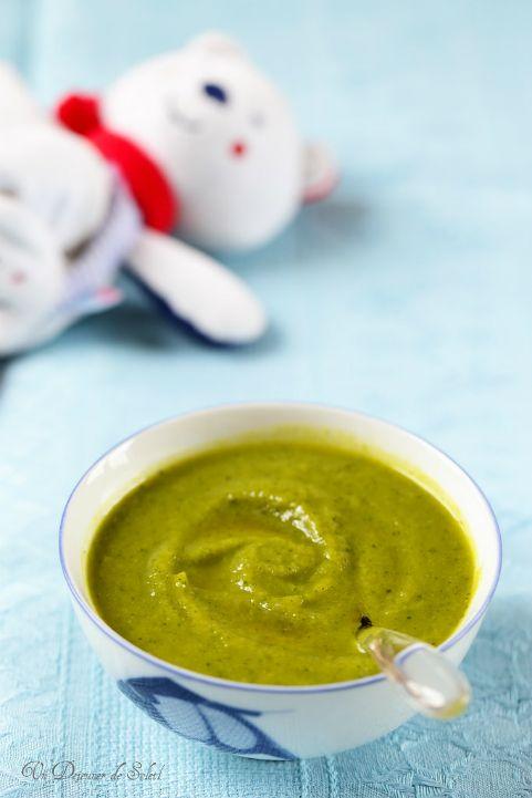 Purée d'asperges, courgettes et cabillaud(recette pour bébés)