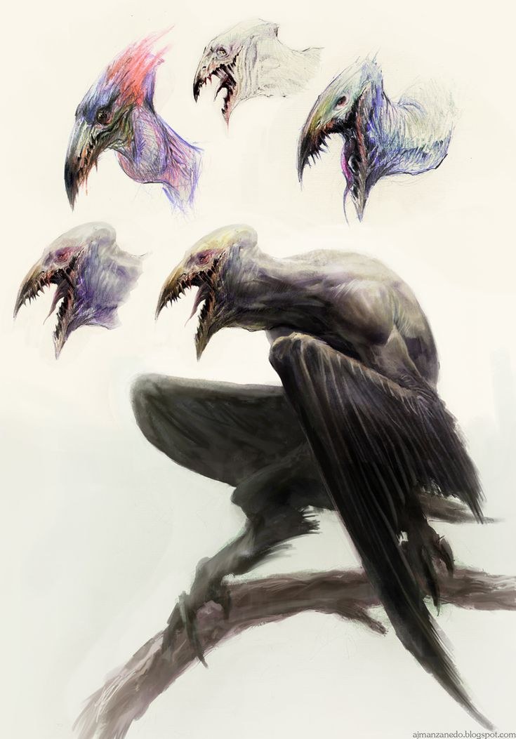 Creature and sketches by ~Manzanedo on deviantART