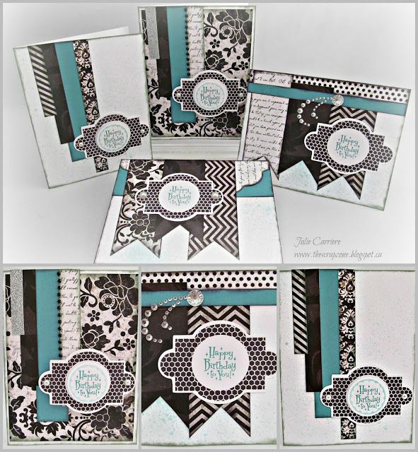 how to make a handmade card with scrapbook paper
