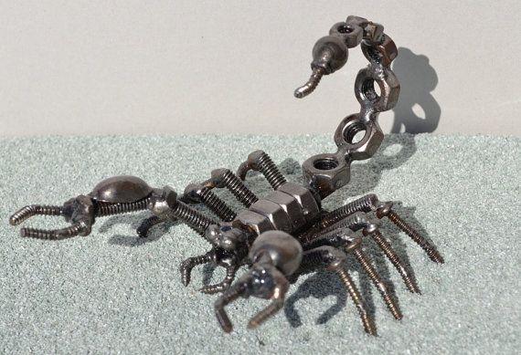 SCORPION 5 Zoll Schrott-Metall-Kunst von ScrapSculptures auf Etsy