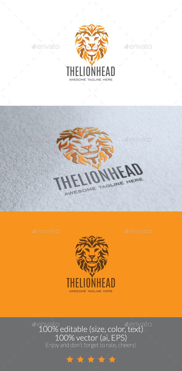 The Lion Head Logo — JPG Image #lion head #logo • Available here → https://graphicriver.net/item/the-lion-head-logo/11715194?ref=pxcr