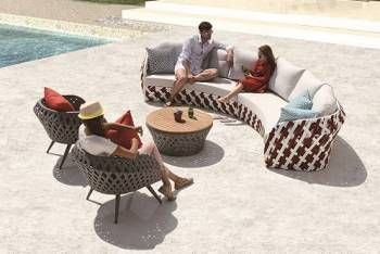 Outdoor Furniture Sets - Outdoor Sofa & Seating Sets - Verona Curved Sofa Set with Chairs