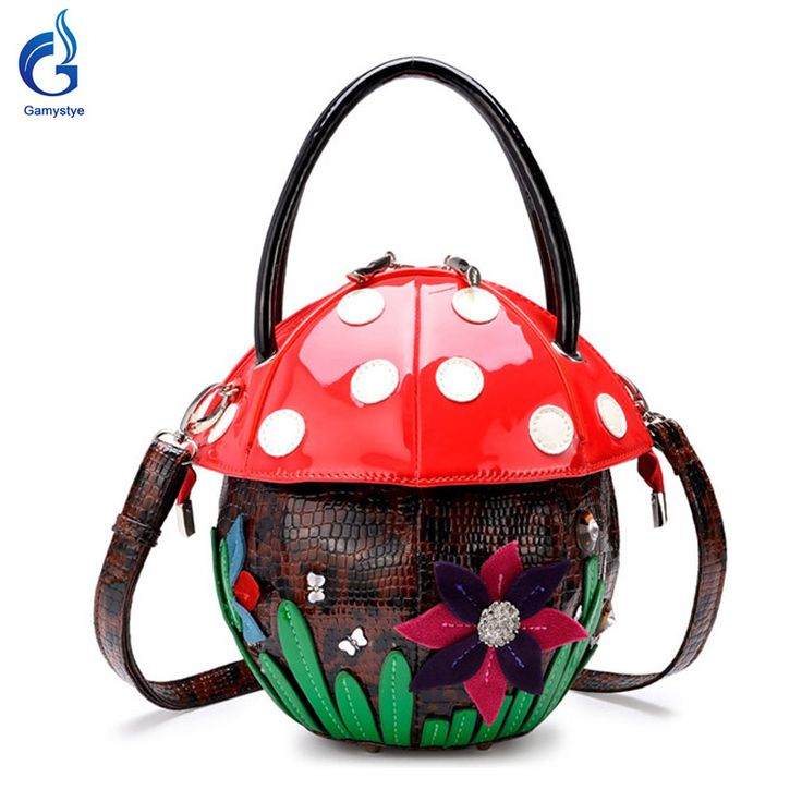 Fun mushroom style diamond Flowers Messenger Single shoulder Handbag | The Bags