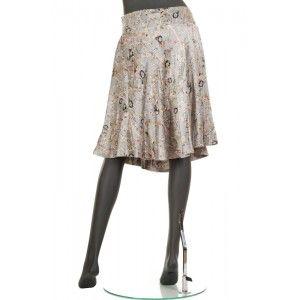 Amuleti - jedwabna srebrna spódnica