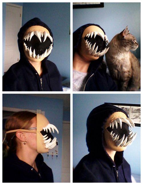 DIY Halloween or Cosplay Monster Teeth Mask Titorial.This DIY Monster Teeth Mask was made for under $20.