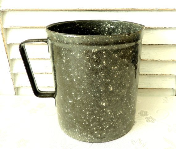 French Vintage Enamel Can Enamel Jug Kitchen Decor Kitchen