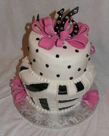Pink & black - gorgeous!  Perfect for tween/teen