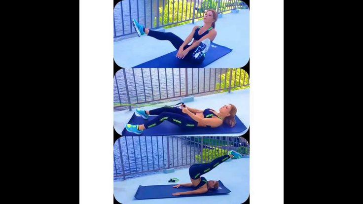 Rutina de Claudia Molina para tonificar abdomen: 4 series de 25 rep de cada uno después del cardio!
