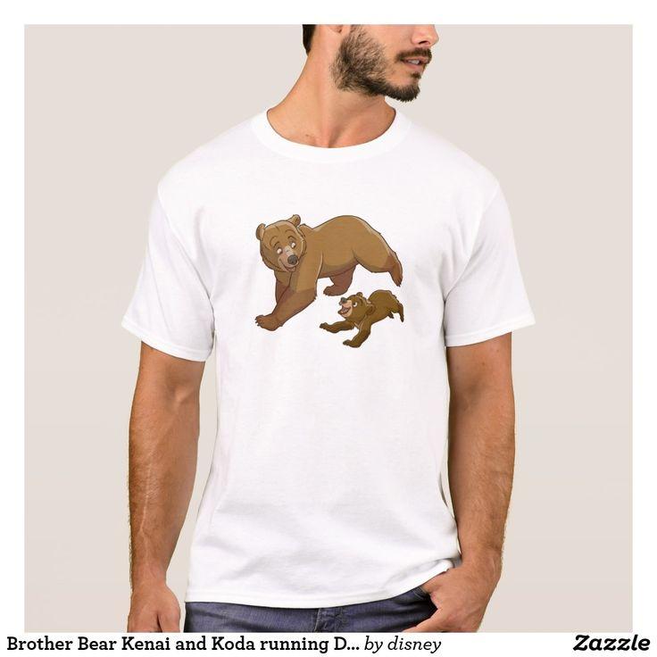 Brother Bear Kenai and Koda running Disney. Regalos Padres, fathers gifts. T-Shirt. Producto disponible en tienda Zazzle. Vestuario, moda. Product available in Zazzle store. Fashion wardrobe. Regalos, Gifts. Trendy tshirt. #camiseta #tshir #DiaDelPadre #FathersDay