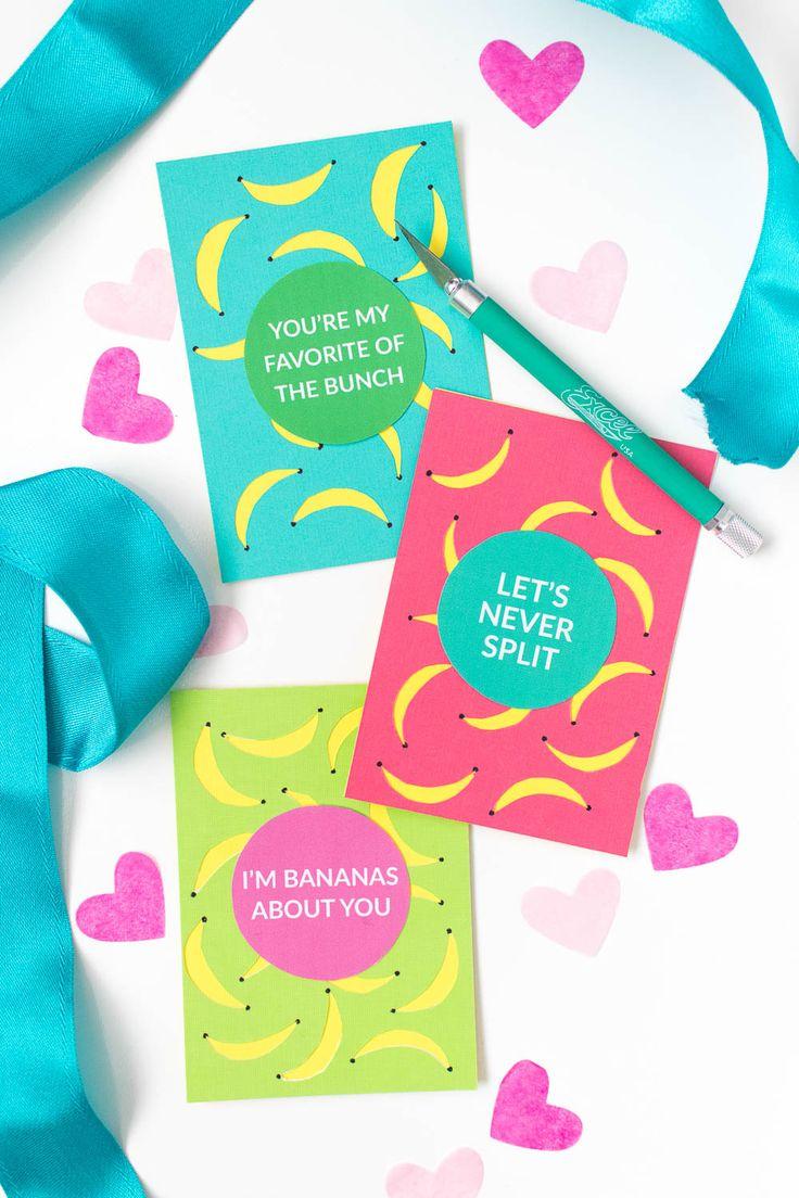 DIY Banana Valentines + a Free Printable!
