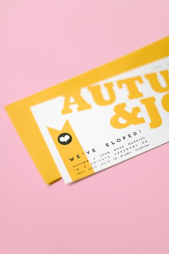 I think it could be a cute idea to make your wedding announcement look like concert tickets.