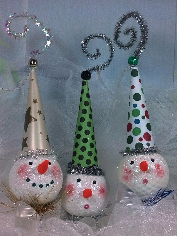 250 best images about golf ball crafts on pinterest for Christmas ball craft ideas