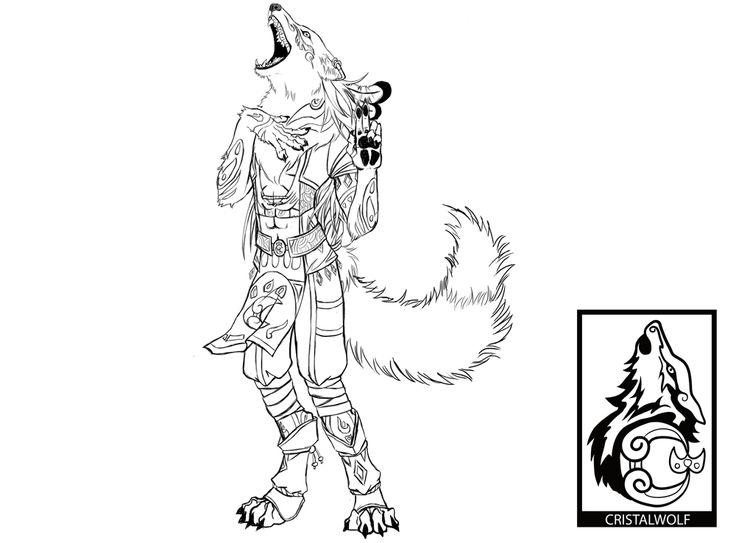 Xazaki, bardo licantropo personagem da mesa de RPG de D&D