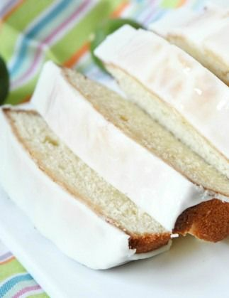 Key Lime Pound Cake with glaze -- my favorite pound cake!! I love Key Lime anything, and this cake has the right amount of zip without being too sour. Nice and moist and not crumbly.