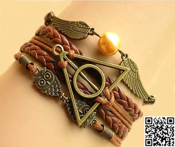 Golden Snitch Wing Bracelet Harry Potter Bracelet Owl by Carlydiy, $4.99