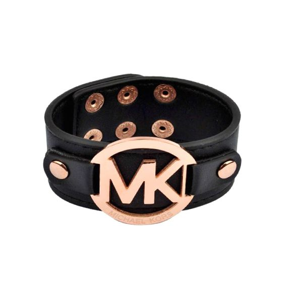 Michael Kors Leather Logo Black Accessories Outlet