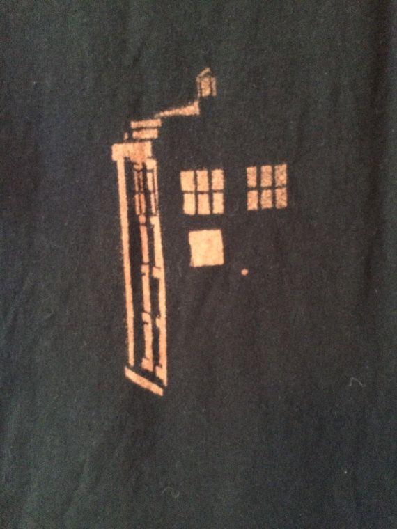 DOCTOR WHO TARDIS bleichen Kunst-T-Shirt große