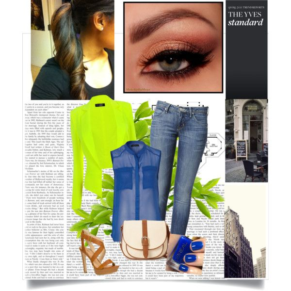 neon by own-style on Polyvore featuring moda, Modström, Hudson Jeans, JustFabulous, Forever 21, L'Oréal Paris and Hunkydory