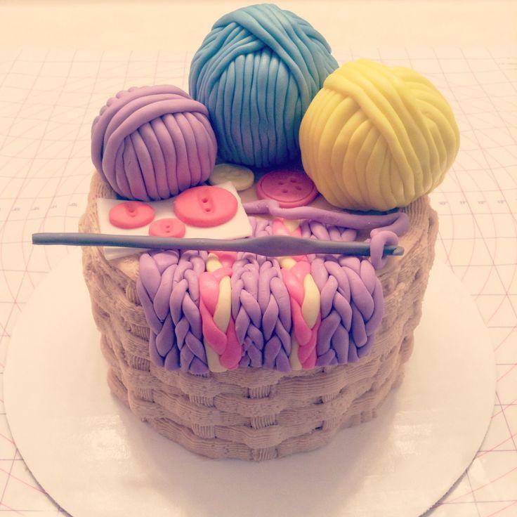 Knitting Birthday Cake Ideas : Crochet themed cake my sweet life pinterest